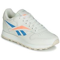 Boty Ženy Nízké tenisky Reebok Classic CL LTHR Béžová / Modrá / Oranžová