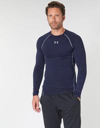 Textil Muži Trička s dlouhými rukávy Under Armour HEATGEAR ARMOUR LS COMPRESSION Tmavě modrá