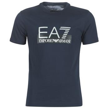 Textil Muži Trička s krátkým rukávem Emporio Armani EA7 GPT81-PJM9Z-1554 Tmavě modrá