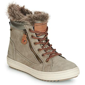 Boty Ženy Zimní boty Tom Tailor MARGA Šedá