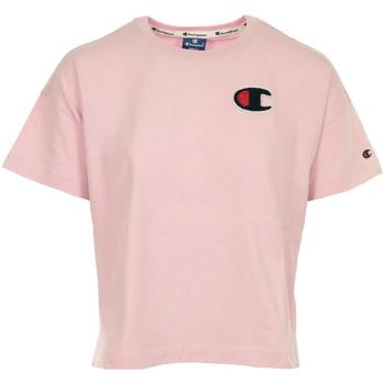 Textil Ženy Trička s krátkým rukávem Champion Crewneck T-shirt Cropped Růžová