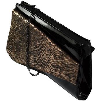 Taška Ženy Večerní kabelky John-C Dámska čierno-zlatá kabelka COLLIR čierna