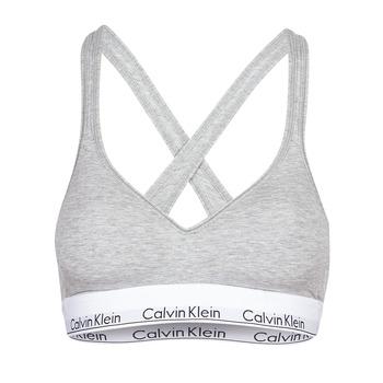 Textil Ženy Sportovní podprsenky Calvin Klein Jeans MODERN COTTON BRALETTE LIFT Šedá