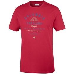 Textil Muži Trička s krátkým rukávem Columbia Leathan Trail Červené