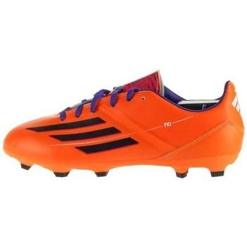 Boty Děti Fotbal adidas Originals F10 Trx FG J Černé,Oranžové
