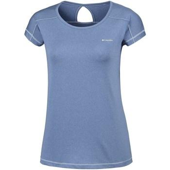 Textil Ženy Trička s krátkým rukávem Columbia Peak TO Point Modré