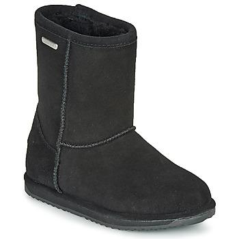 Boty Dívčí Kotníkové boty EMU BRUMBY LO WATERPROOF Černá