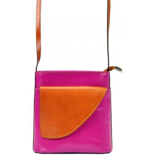Taška Ženy Kabelky  Gregorio Kožená malá dámská crossbody kabelka růžová-hnědá růžová