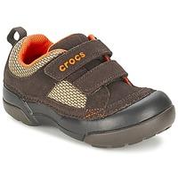 Boty Chlapecké Nízké tenisky Crocs DAWSON HOOK & LOOP Hnědá