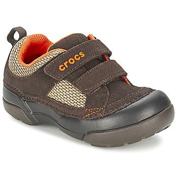 Crocs Tenisky Dětské DAWSON HOOK LOOP - Hnědá