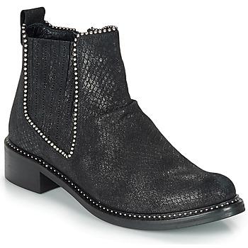 Boty Ženy Kotníkové boty Regard ROAL V1 CROSTE SERPENTE PRETO Černá