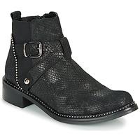 Boty Ženy Kotníkové boty Regard ROALA V1 CROSTE SERPENTE PRETO Černá