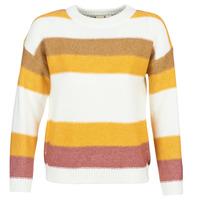 Textil Ženy Svetry Roxy TRIP FOR TWO STRIPE Bílá / Žlutá