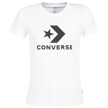 Textil Ženy Trička s krátkým rukávem Converse STAR CHEVRON Bílá