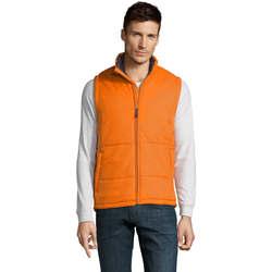 Textil Muži Prošívané bundy Sols WARM PRO WORK Naranja