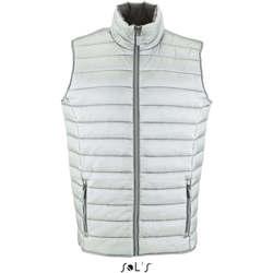 Textil Muži Oblekové vesty Sols WAVE LIGHTWEIGHT MEN Plata