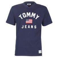 Textil Muži Trička s krátkým rukávem Tommy Jeans TJM USA FLAG TEE Tmavě modrá