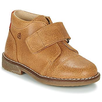 Boty Chlapecké Kotníkové boty Citrouille et Compagnie LAPUPI Velbloudí hnědá