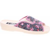 Boty Ženy Pantofle Rejnok Dovoz Dámské domácí pantofle Rogallo 7101-018 květy Modrá
