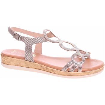 Boty Ženy Sandály Rejnok Dovoz Dámské sandály Presso 4009 fancy cava Zlatá