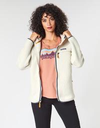 Textil Ženy Fleecové bundy Patagonia W'S RETRO PILE HOODY Bílá
