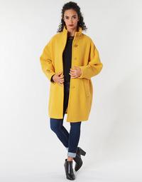 Textil Ženy Kabáty Benetton STORI Žlutá
