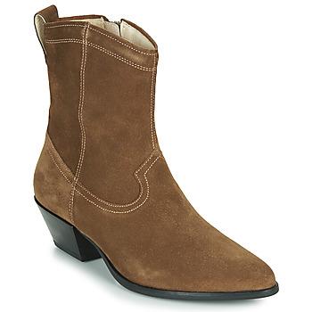 Boty Ženy Polokozačky Vagabond Shoemakers EMILY Šedobéžová