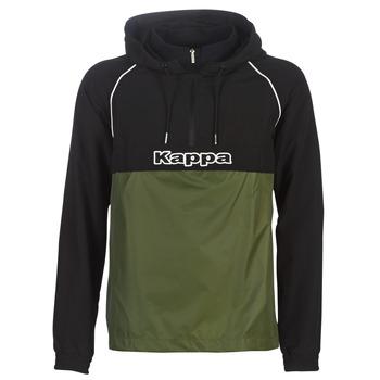 Textil Muži Větrovky Kappa RISANO Černá / Khaki