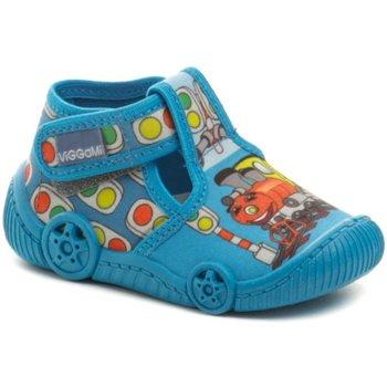 Boty Chlapecké Bačkůrky pro miminka Vi-Gga-Mi modré dětské bačkůrky GRZES Modrá