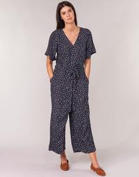 Textil Ženy Overaly / Kalhoty s laclem Cream GERMINA Tmavě modrá