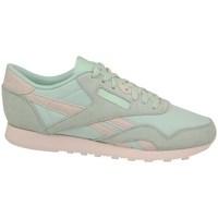Boty Ženy Nízké tenisky Reebok Sport CL Nylon Růžové, Bledě zelené