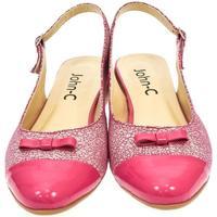 Boty Ženy Sandály John-C Dámske ružové sandále EVELINE cyklamenová