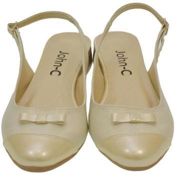 Boty Ženy Sandály Just Mazzoni Dámske zlato-béžové sandále EVELINE zlatá
