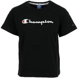Textil Ženy Trička s krátkým rukávem Champion Crewneck T-shirt Wn's Černá