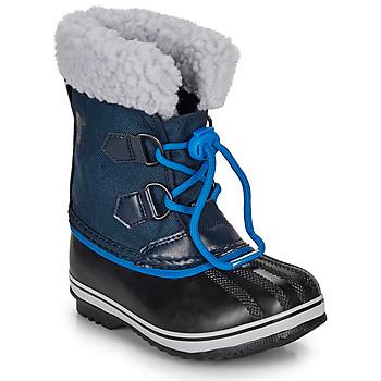 Boty Děti Zimní boty Sorel YOOT PAC NYLON Námořnická modř