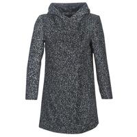 Textil Ženy Kabáty Casual Attitude LOUA Šedá / Černá