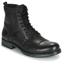 Boty Muži Kotníkové boty Jack & Jones JFW RUSSEL LEATHER Černá
