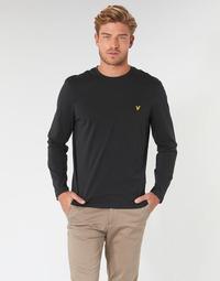 Textil Muži Trička s dlouhými rukávy Lyle & Scott TS512V-574 Černá