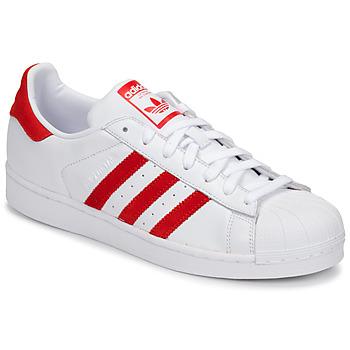 Boty Nízké tenisky adidas Originals SUPERSTAR Bílá / Červená
