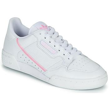 Boty Ženy Nízké tenisky adidas Originals CONTINENTAL 80 W Bílá / Růžová