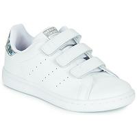 Boty Dívčí Nízké tenisky adidas Originals STAN SMITH CF C Bílá / Stříbřitá
