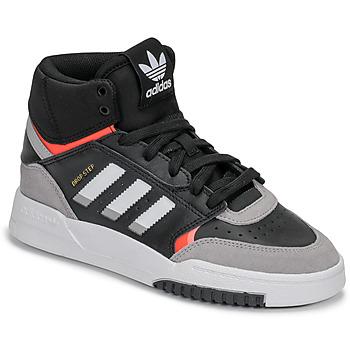 Boty Chlapecké Kotníkové tenisky adidas Originals DROP STEP J Černá / Šedá