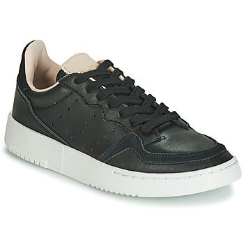 Boty Děti Nízké tenisky adidas Originals SUPERCOURT J Černá