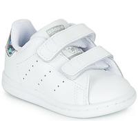 Boty Dívčí Nízké tenisky adidas Originals STAN SMITH CF I Bílá / Stříbřitá