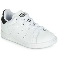 Boty Děti Nízké tenisky adidas Originals STAN SMITH EL I Bílá / Černá