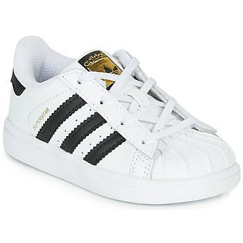 Boty Děti Nízké tenisky adidas Originals SUPERSTAR I Bílá / Černá