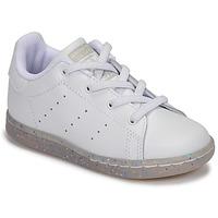 Boty Dívčí Nízké tenisky adidas Originals STAN SMITH EL I Bílá / Třpytivý