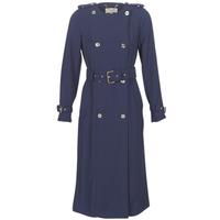 Textil Ženy Pláště MICHAEL Michael Kors COLLARLESS TRENCH Tmavě modrá