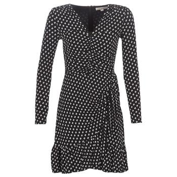 Textil Ženy Krátké šaty MICHAEL Michael Kors ELV DOT SHRD LS DRS Černá