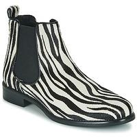 Boty Ženy Kotníkové boty Betty London HUGUETTE Černá / Bílá